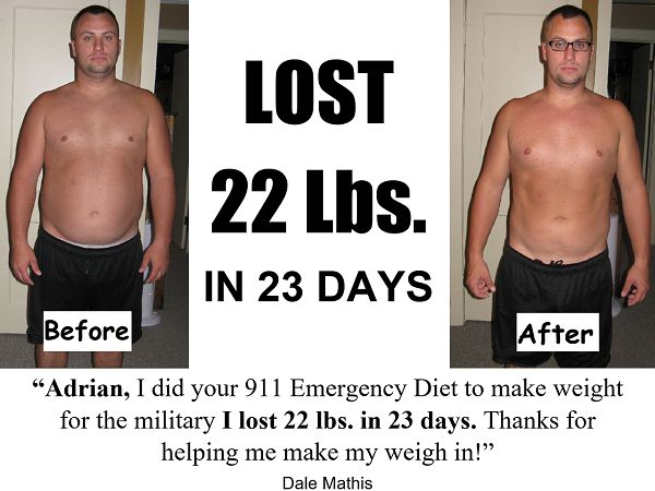 lose 20 pounds 3 weeks
