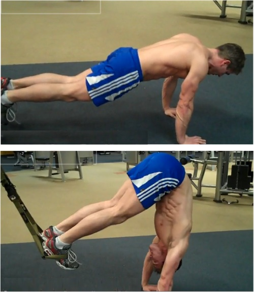 Pike TRX ab exercise