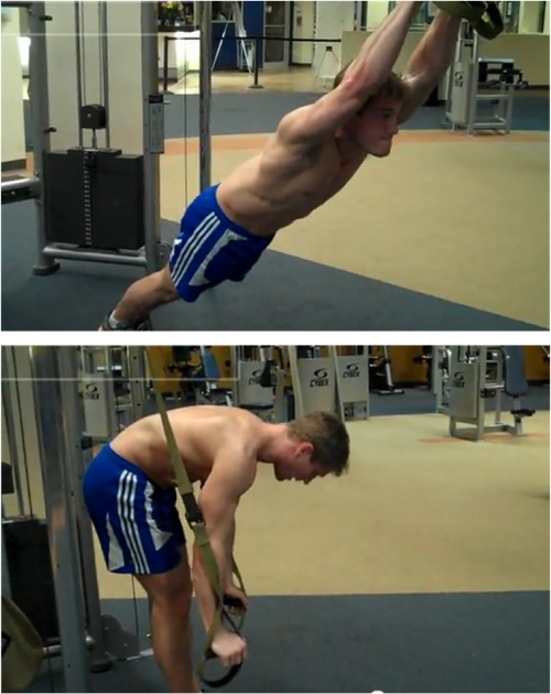 Standing crunch TRX ab exercise