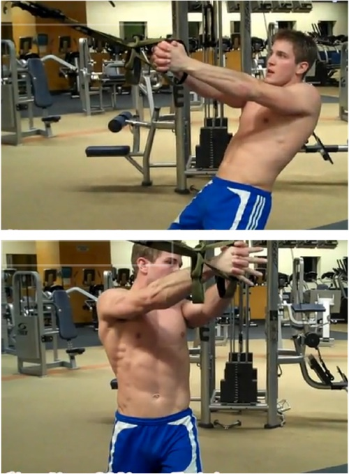 Oblique TRX exercise