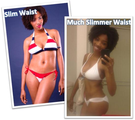 Alyson got a much slimmer waist