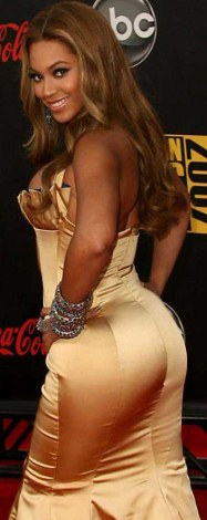 Picture of  Beyonce displaying her butt