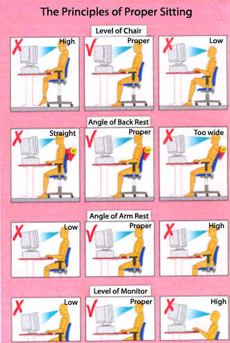 proper seated posture principles