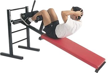 sit-ups on bench