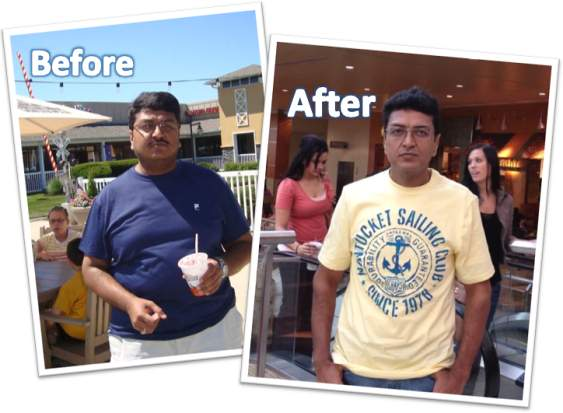 Sambasivam lost 70 lbs. doing jumping jacks